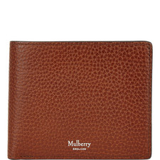 Grained Leather Billfold Wallet