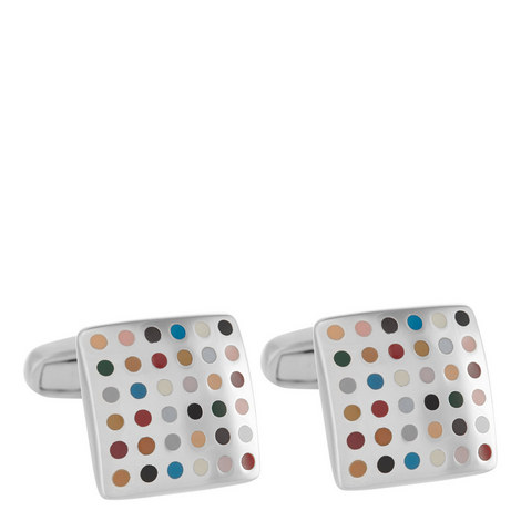 Square Multi Spot Cufflinks, ${color}