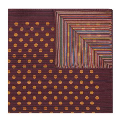 Stripe Dot Silk Pocket Square, ${color}