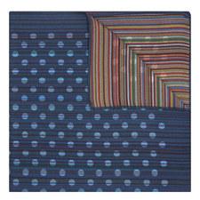 Stripe Dot Silk Pocket Square