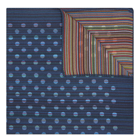 Stripe Dot Silk Pocket Square, ${color}