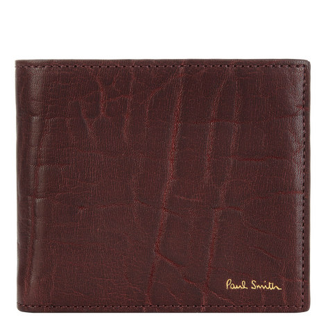 Embossed Leather Billfold Wallet, ${color}