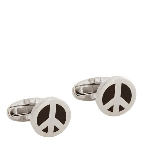 Peace Sign Cufflinks, ${color}