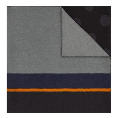 Multi Print Silk Pocket Square, ${color}