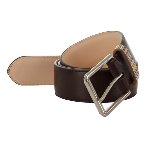 Stripe Detail Leather Belt, ${color}