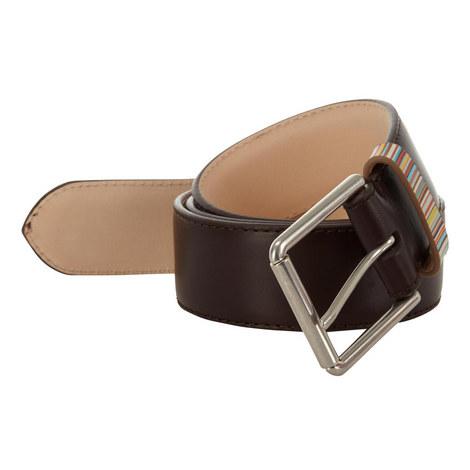 Stripe Detail Leather Belt, ${color}
