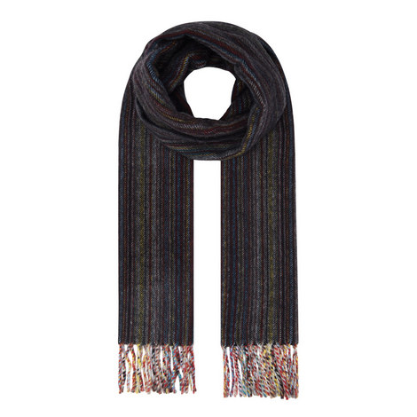 Stripe Cashmere Scarf, ${color}