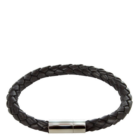 Braided Leather Bracelet, ${color}