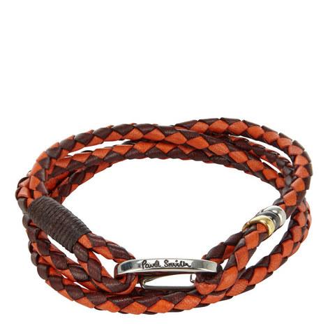 Leather Wrap Bracelet, ${color}
