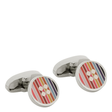 Stripe Button Cufflinks, ${color}