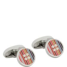 Stripe Button Cufflinks