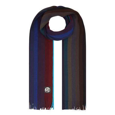 Stripe Virgin Wool Scarf, ${color}