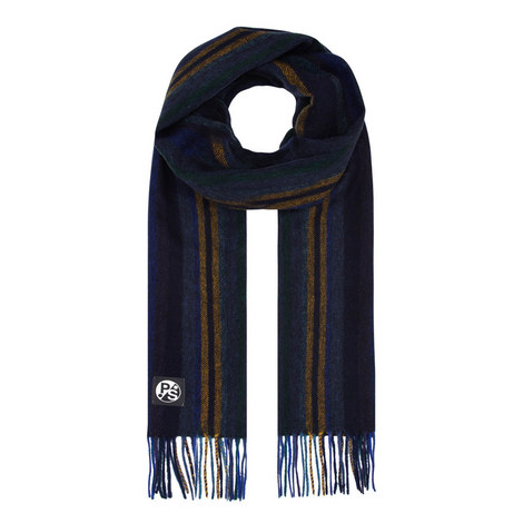 Striped Lambswool Scarf, ${color}