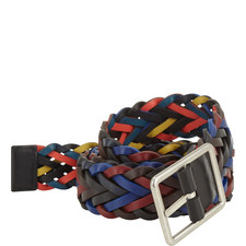 Reversible Woven Leather Belt
