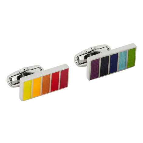 Basket Weave Stripe Cufflinks, ${color}