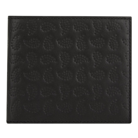 Paisley Embossed Leather Billfold Wallet, ${color}