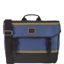 Stripe Appliqué Messenger Bag
