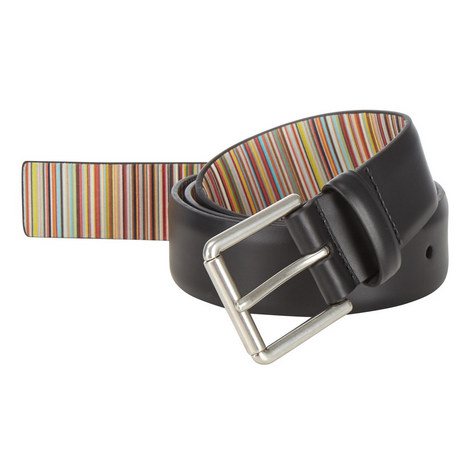 Leather Stripe Belt, ${color}