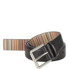 Leather Stripe Belt