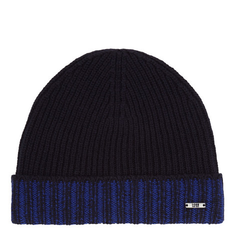 Fati Ribbed Wool Beanie Hat, ${color}