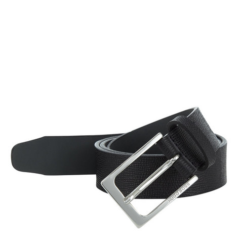 Cary Textured Leather Belt, ${color}