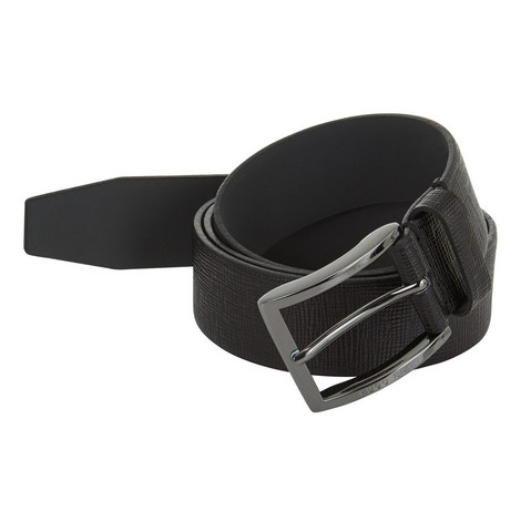 Carl Textured Leather Belt, ${color}