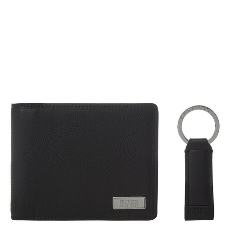Leather Wallet Keyring Giftset, ${color}