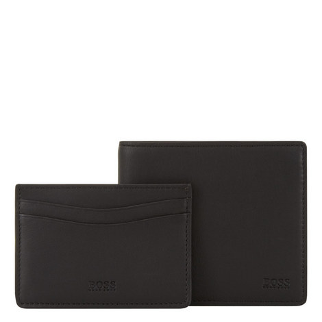 Leather Wallet and Card Holder Set, ${color}