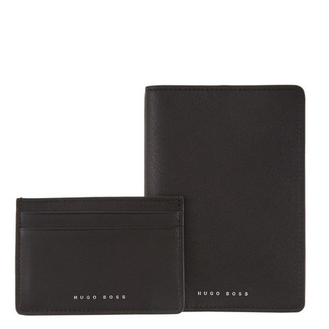 Card Holder and Passport Cover Gift Set, ${color}