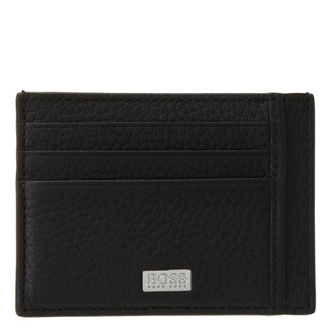 Crosstown Grained Leather Card Holder, ${color}