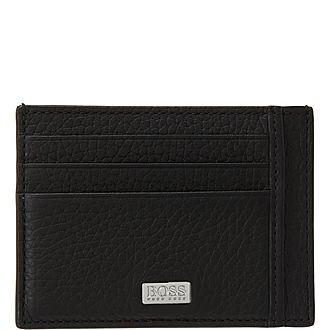 Crosstown Grained Leather Card Holder
