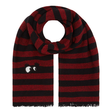 Stripe Eyes Wool Scarf, ${color}