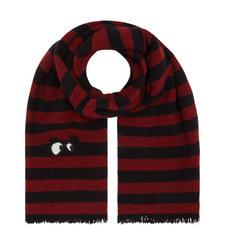 Stripe Eyes Wool Scarf