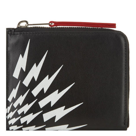 Lightning Bolt Zipped Wallet, ${color}