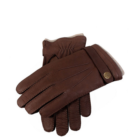 Gloucester Cashmere Lined Deerskin Leather Gloves, ${color}