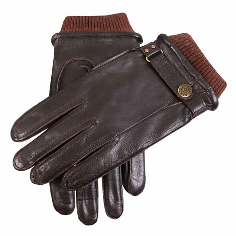 Penrith Cuffed Leather Gloves, ${color}