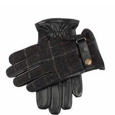 Edinburgh Check Leather Gloves