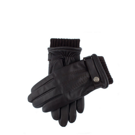 Henley Touchscreen Leather Gloves, ${color}