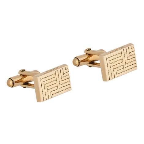 Etched Rectangle Cufflinks, ${color}