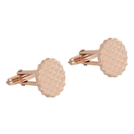 Stamped Round Cufflinks, ${color}