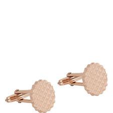 Stamped Round Cufflinks
