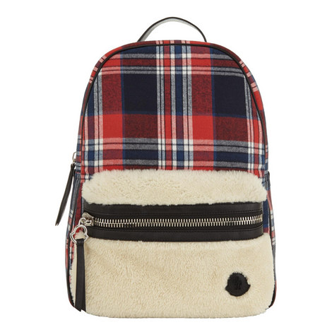 Check Shearling Backpack, ${color}