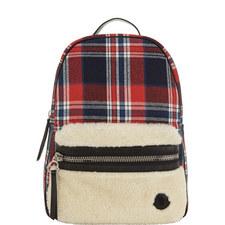 Check Shearling Backpack