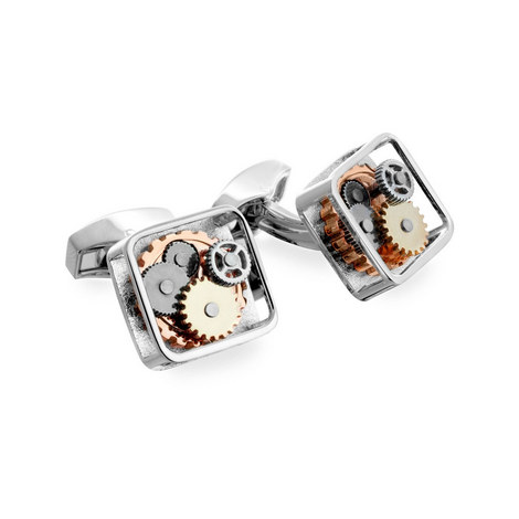 Square Gear Cufflinks, ${color}