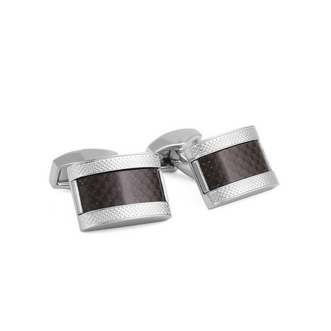 D Shape Cufflinks, ${color}