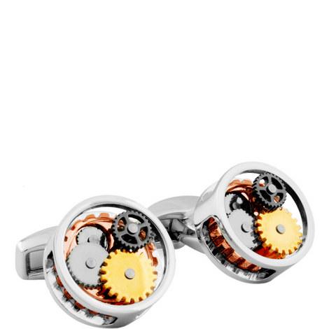 Round Gear Cufflinks, ${color}