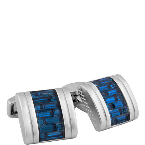 Interlock D-Shape Belgravia Cufflinks, ${color}