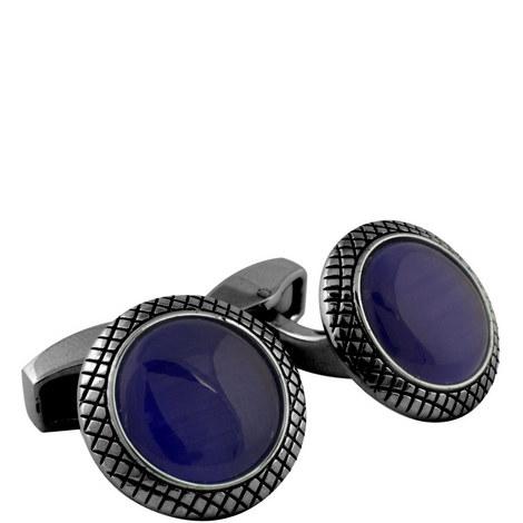 Round Optic Bulls Eye Cufflinks, ${color}