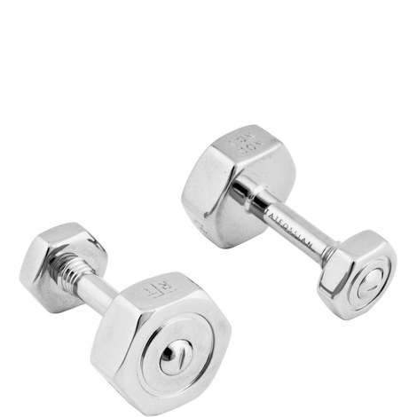 Nut & Bolt Dumbbell Cufflinks, ${color}