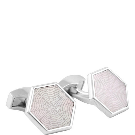 Guilloche Web Cufflinks, ${color}
